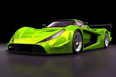 zielone-sportowe-auto