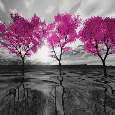 szary-krajobraz-i-rozowe-drzewa