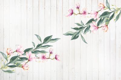 kwiaty-magnolii-na-bialych-deskach