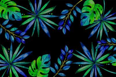 tropikalne-liscie-na-czarnym-tle