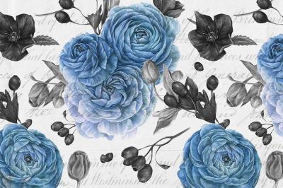 niebieska-roza-na-tle-z-napisami