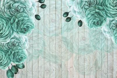 turkusowe-roze-na-deskach