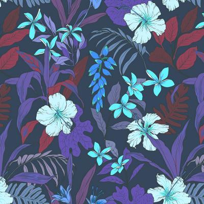 kwiaty-i-liscie-na-sciane