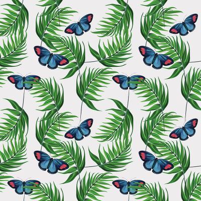 zielone-liscie-i-tropikalne-motyle