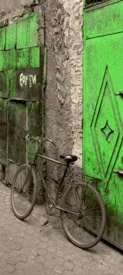 stary-rower-i-limonkowe-drzwi