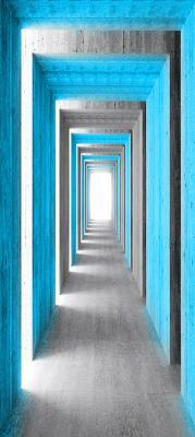 betonowy-tunel-i-turkusowe-kolumny