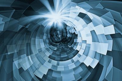niebieski-tunel-w-kwadraty