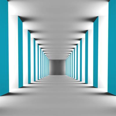 turkusowy-korytarz-na-sciane