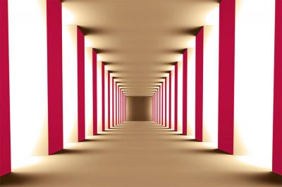 bezowy-korytarz-i-czerwone-kolumny