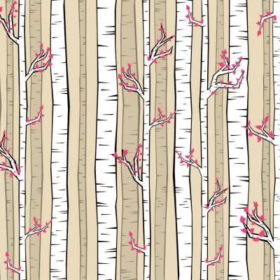 brzozowy-las-ilustracja-na-sciane