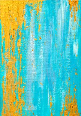 turkusowo-zolta-abstrakcja