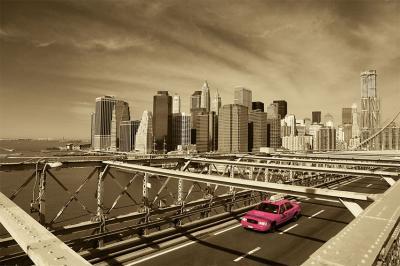 panorama-miasta-w-sepii-i-rozowa-taksowka