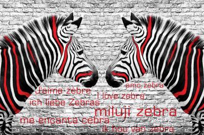 biala-cegla-i-zebry-w-czerwone-paski
