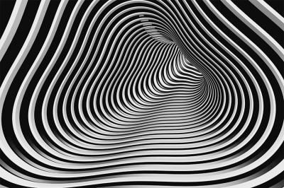 przestrzenny-tunel-w-paski