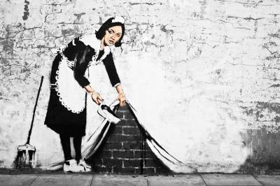 banksy-reprodukcja-graffiti-sprzataczka