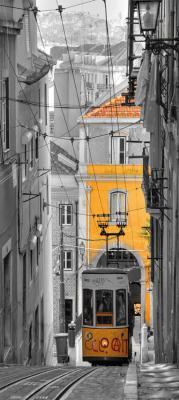 zolty-tramwaj-w-barcelonie