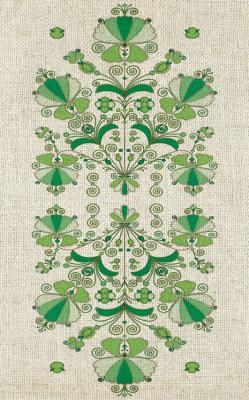 zielone-hafty-na-lnie