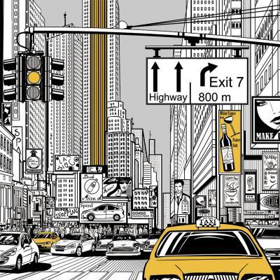 rysunkowa-ulica-w-nowym-jorku