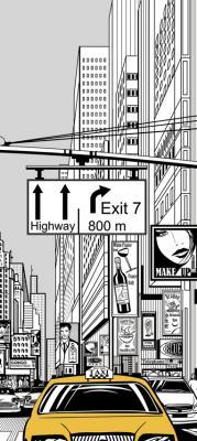 zolta-taksowka-na-ulicy-w-nowym-jorku-ilustracja