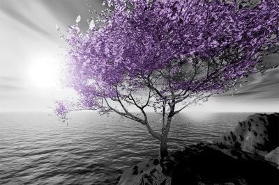 fioletowe-drzewo-i-szary-krajobraz