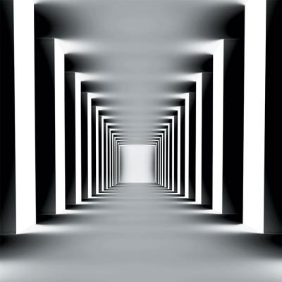 czarno-bialy-korytarz