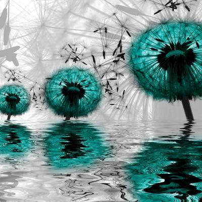 trzy-turkusowe-dmuchawce-w-wodzie
