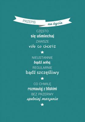 napis-przepis-na-zycie-na-sciane