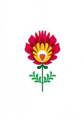 grafika-folkowy-kwiatek-z-wycinanek