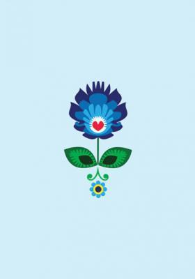grafika-folkowy-kwiat