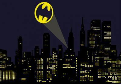 motyw-z-miastem-i-znakiem-batmana