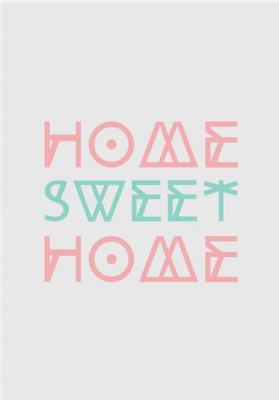 napis-home-sweet-home-kolorowy